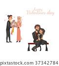 vector, couple, love 37342784