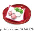 쿠시당고, 경단 꼬치, 손그림 37342976