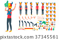 Sports Fan Vector. Animated Character Creation Set 37345561