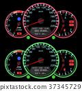 speedometer, car, vector 37345729