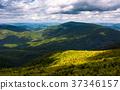 grassy slopes of Carpathian mountains 37346157