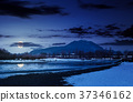 Tisza river in winter at night 37346162