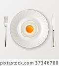 omelet, egg, plate 37346788