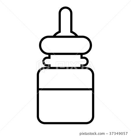 Baby bottle icon , outline style 37349057