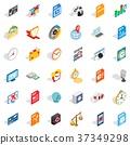 audio, icon, isometric 37349298