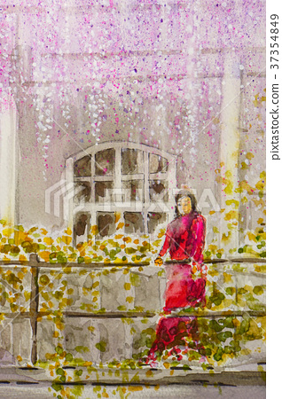 Wisteria girl balcony romeo and juliet 37354849