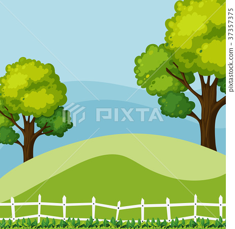 Background scene with green trees 37357375