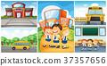 Children and different school scenes 37357656