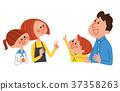 ครอบครัว,ภาพวาดมือ ครอบครัว,คน 37358263