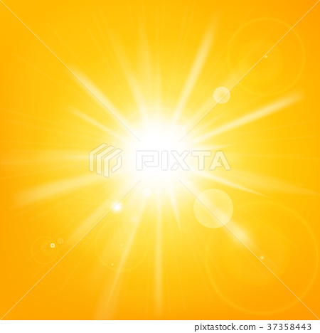 Abstract hot yellow background with sunlight  37358443