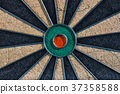 Close up of colorful and empty darts board 37358588