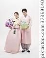 선물상자, 전통의상, 커플 37359140