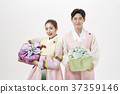 선물상자, 전통의상, 커플 37359146