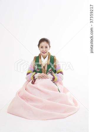 韓服,女,韓國人 37359217