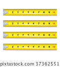 Yellow Measure Tape Vector. Centimeter And Inch 37362551