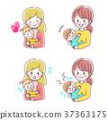 아기와 엄마의 일러스트 37363175