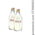 牛奶 牛奶瓶 瓶子 37366002
