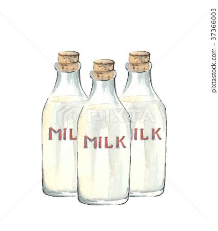 3瓶牛奶 37366003