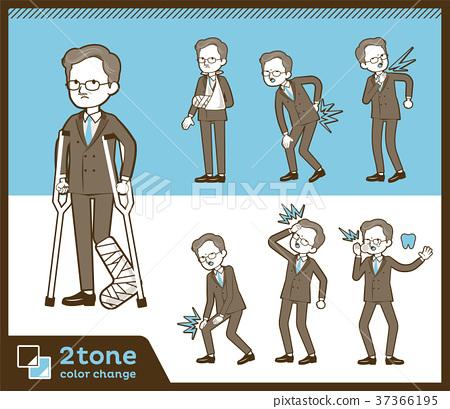 2tone type Double suit old men_set 08 37366195