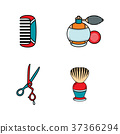 vector flat barber shop tools icon 37366294