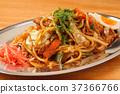 yakisoba noodles with sauce, fried soba, fried soba noodles 37366766