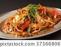 fried soba, yakisoba noodles with sauce, fried soba noodles 37366806