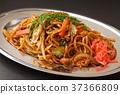 日式炒麵 帶醬汁的日本炒麵 食物 37366809