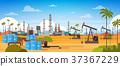 Oil Platform In Desert East Petrolium Production 37367229