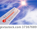 thermometer and sun 37367689
