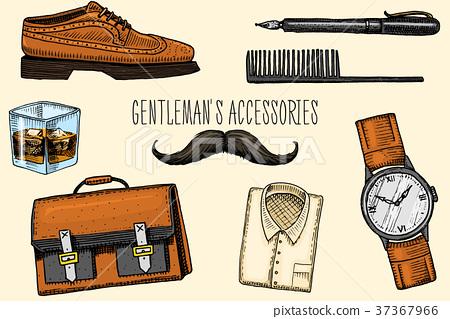 gentleman accessories. hipster or businessman 37367966