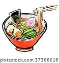 Brushed food ramen 37368016