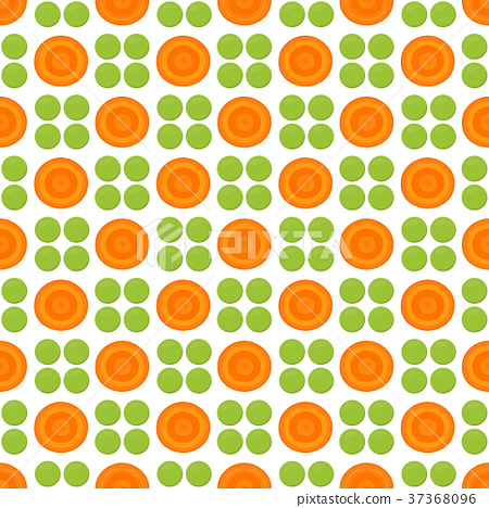 pattern with peas and carrot 37368096