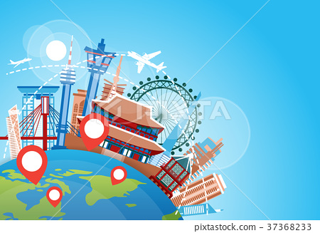 South Korea Travel Landmarks Plane Fly Over Famous 37368233