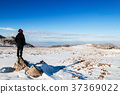 Tourist explore Mt. Erciyes snow in winter, Turkey 37369022