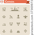 Canada travel icon set 37369973