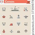 Canada travel icon set 37369979