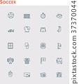 Vector soccer icon set 37370044