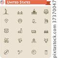 United States travel icon set 37370047