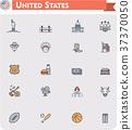 United States travel icon set 37370050