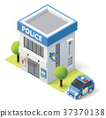 Vector isometric police department 37370138