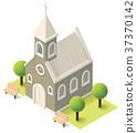 Vector isometric church 37370142