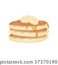pancake, banana, stack 37370190