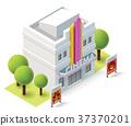 vector, icon, building 37370201