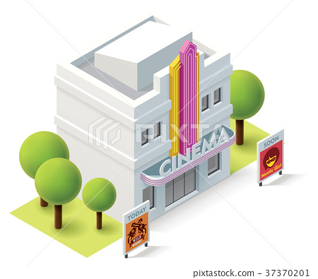 Vector isometric cinema 37370201