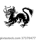 paper cut out of a Dragon china 37370477