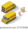 Vector isometric mail van 37370588