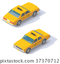 Vector isometric taxi cab 37370712