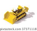 Vector isometric mining bulldozer 37371118