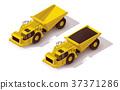 Vector isometric underground dump truck 37371286