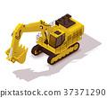 Vector isometric mining excavator 37371290
